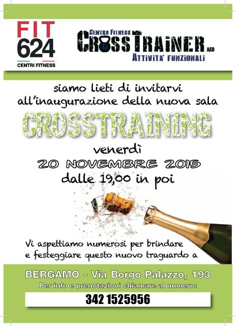 FIT624 Bergamo e Crosstrainer Volantino-inaugurazione
