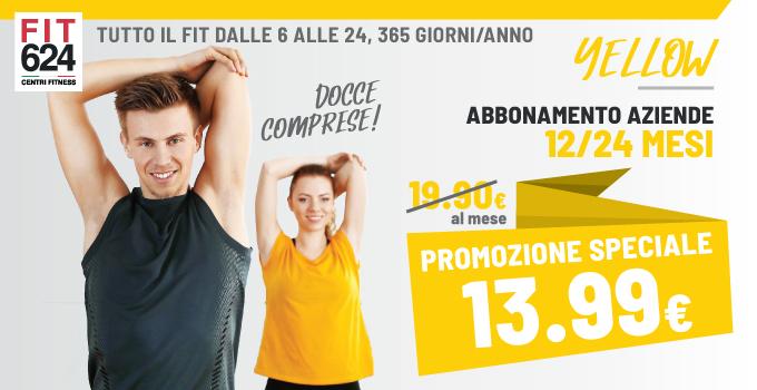 FIT624 Bergamo ABBONAMENTO Yellow Esclusivo Per Le Aziende