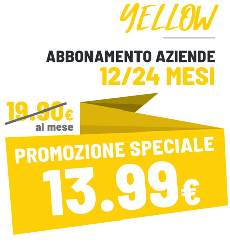FIT624 Bergamo Promo Yellow esclusiva per le Aziende