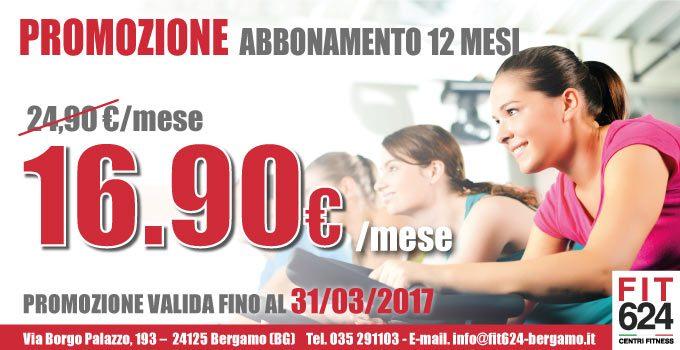 Ti Abboni Ora…e Ti Alleni Tutto L'anno! La Speciale Promo Di Marzo Ti Aspetta In FIT624 Bergamo!