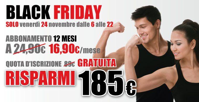 Con Il Black Friday Di FIT624 Risparmi € 185 Sull'abbonamento Annuale!
