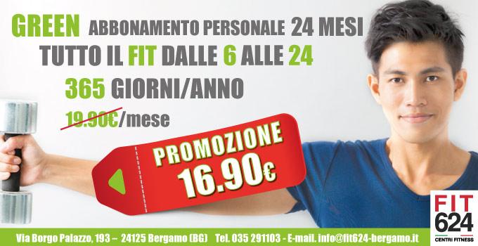 FIT624 Bergamo Promozione Abbonamento GREEN 24 Mesi