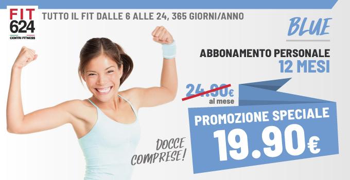 FIT624 Bergamo Promozione Abbonamento BLU 12 Mesi