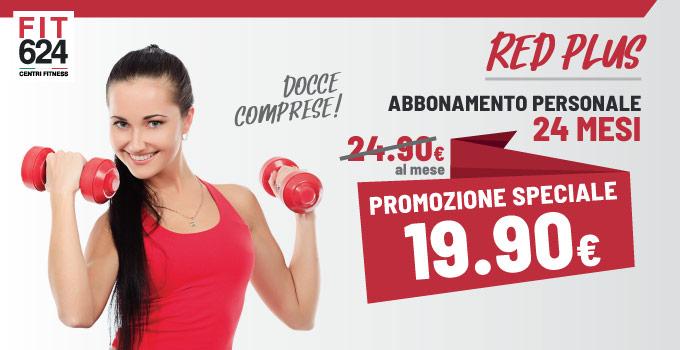 FIT624 Bergamo Ponte San Pietro Promo ABBONAMENTO 24 Mesi RED Plus