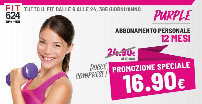 FIT624 Bergamo Promozione Abbonamento PURPLE 12 Mesi