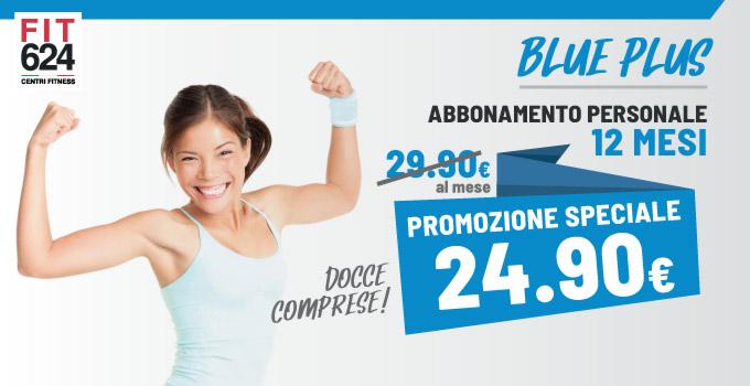 FIT624 Bergamo Ponte San Pietro Promo ABBONAMENTO 12 Mesi BLUE Plus