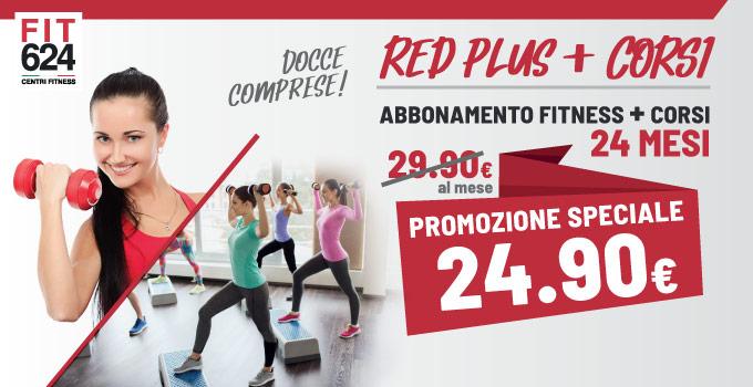 FIT624-Bergamo Ponte San Pietro Promo ABBONAMENTO 24 Mesi RED Plus Fitness e CORSI