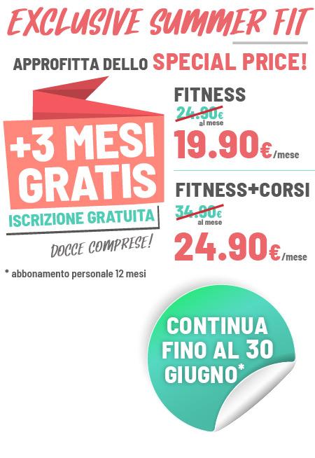 FIT624 Bergamo rinnovo PROMO EXCLUSIVE SUMMER FIT 12 MESI