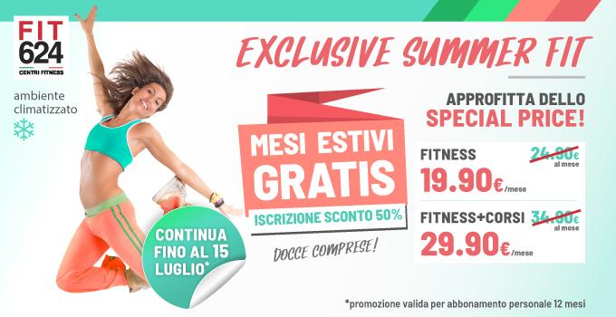 FIT624 Bergamo PROMO Exclusive Summer Fit 12 Mesi Fino 15 Luglio