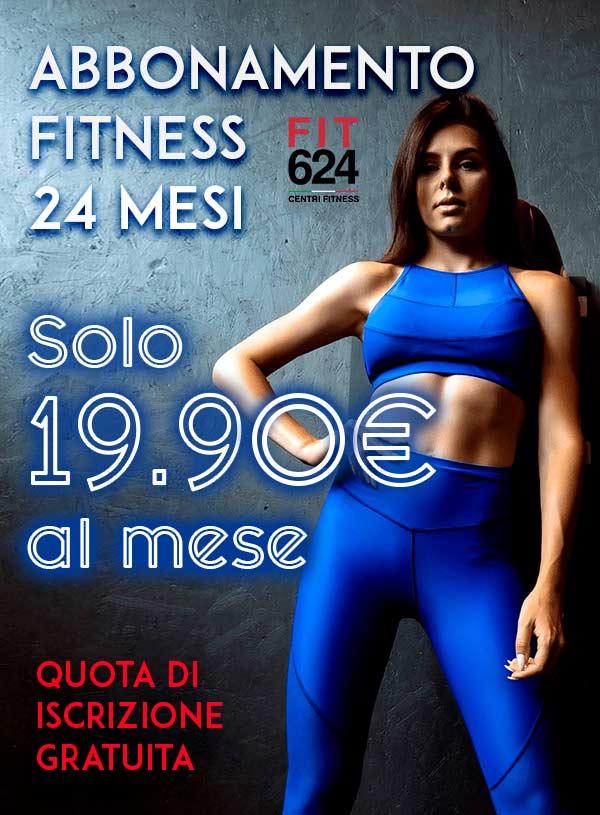 FIT624 promo iscrizioni online abbonamento fitness 24 mesi