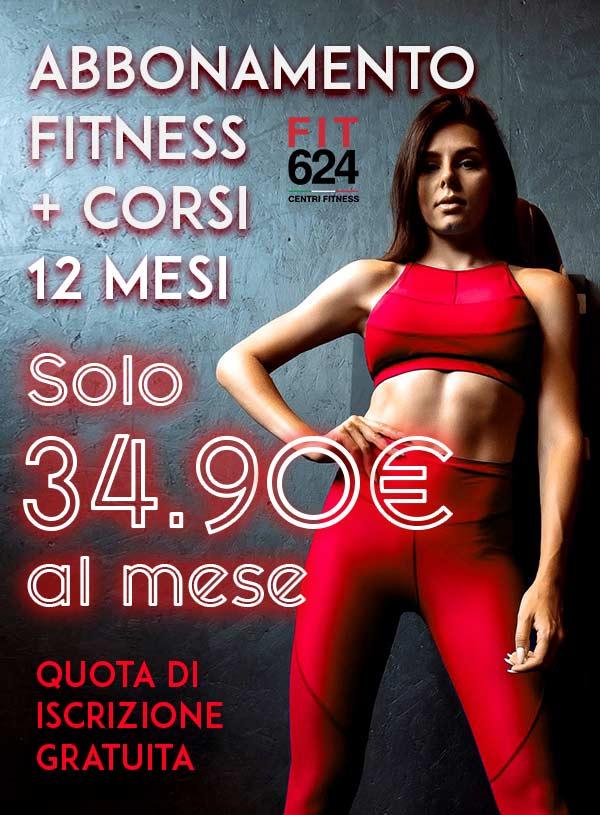 Abbonamento Fitness + Corsi 12 Mesi – Promo Iscrizioni Online